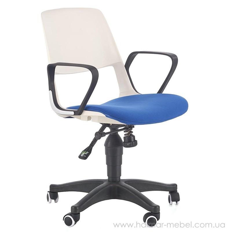 Кресло детское JUMBO HALMAR (белый/синий)