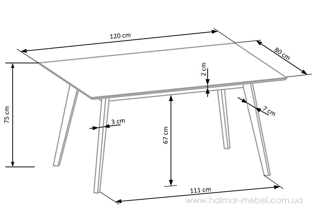 CORDOBA комплект обеденный (стол + 4 стула)