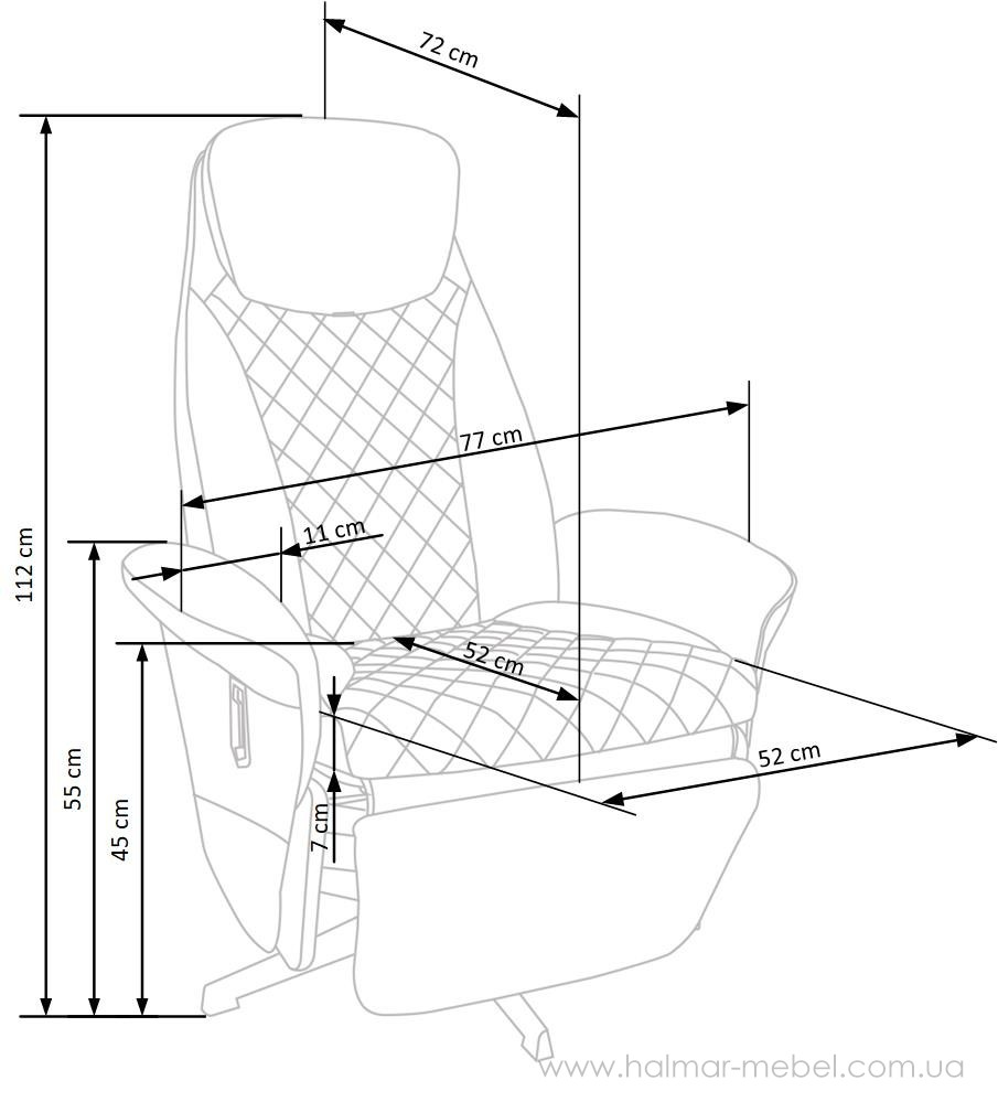 Раскладное кресло  CAMARO HALMAR