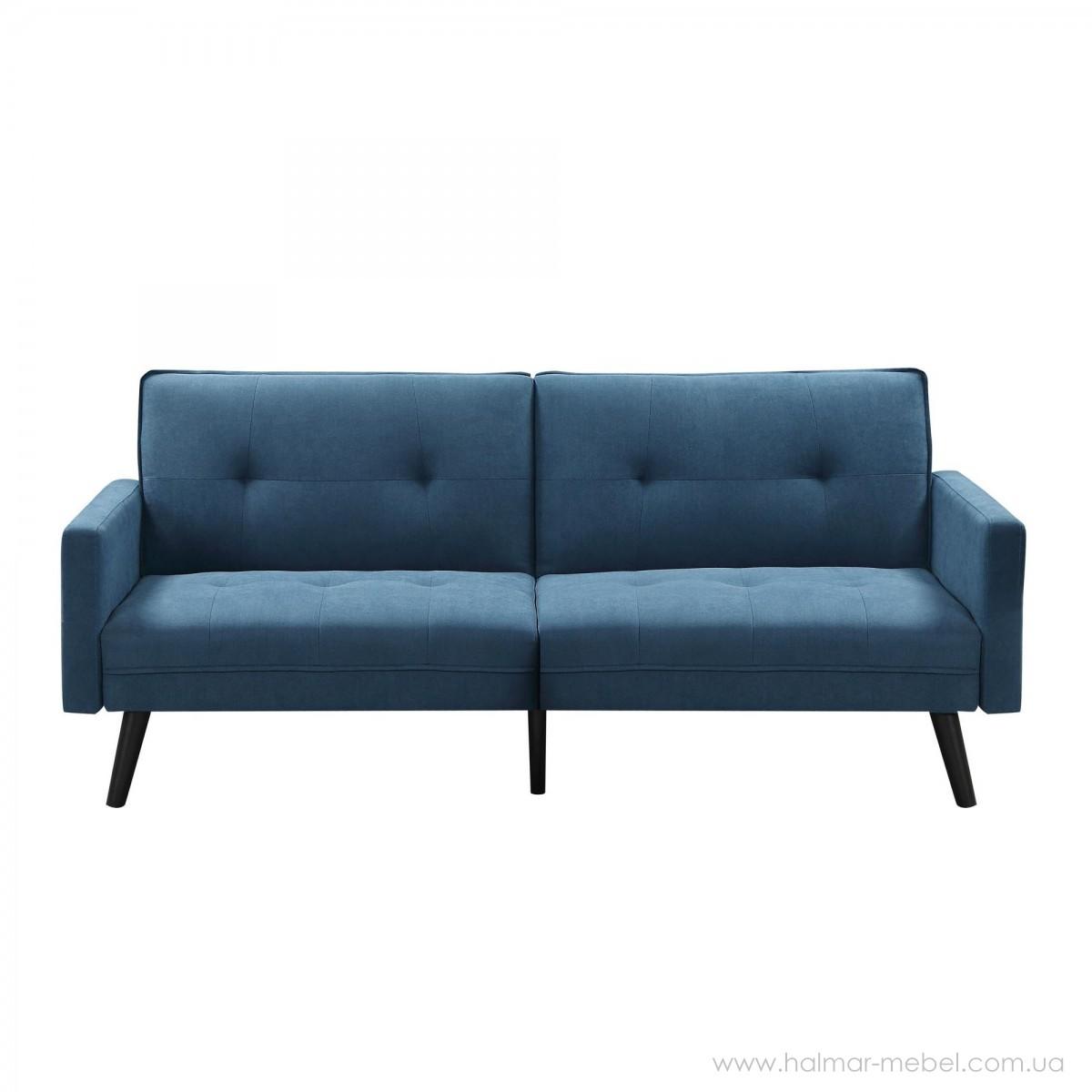 Раскладной диван с подставкой для ног CORNER синий HALMAR
