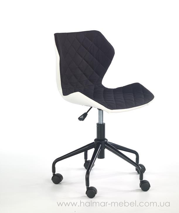 Кресло офисное MATRIX HALMAR бело-черный