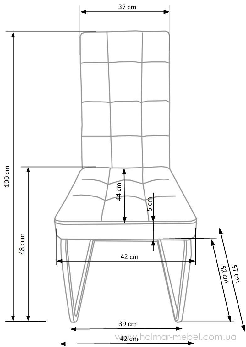 Стул K310 HALMAR (темно-коричневый)
