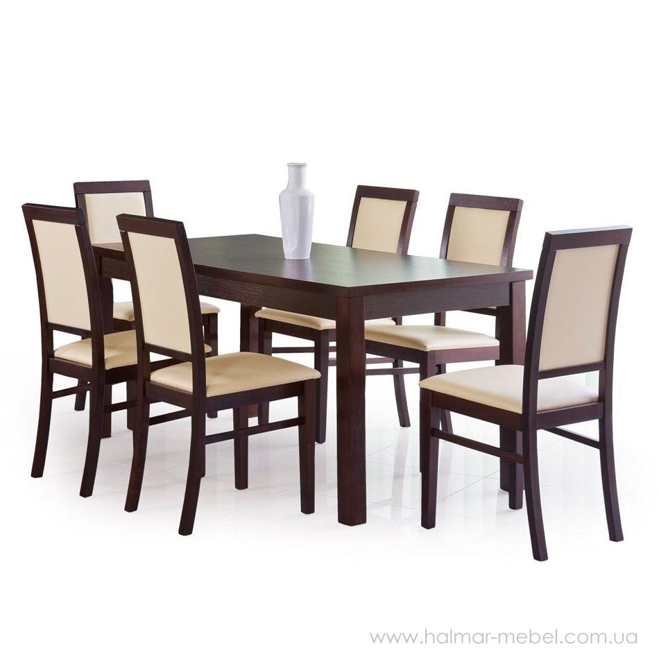 Стол обеденный ERNEST 2 160/200 HALMAR (орех)