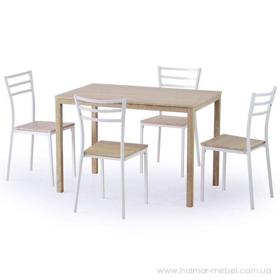 Комплект обеденный HALMAR стол и стулья AVANT