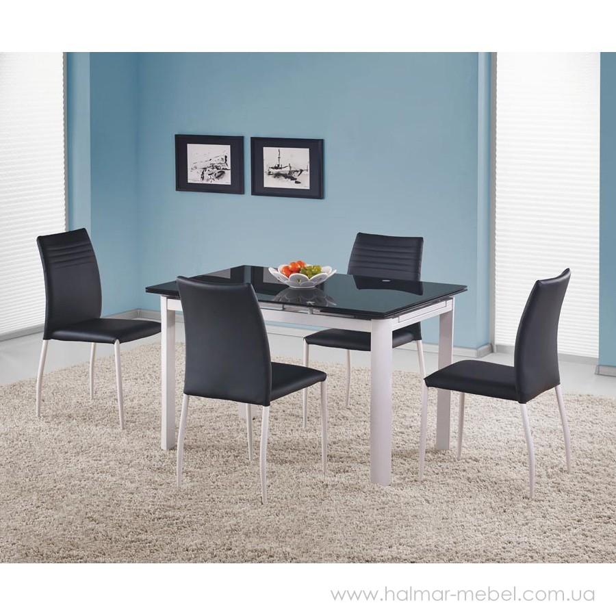 Комплект обеденный HALMAR стол ALSTON и стулья K168 (черный)