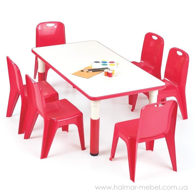 Стол детский SIMBA PROSTOKAT HALMAR (красный)