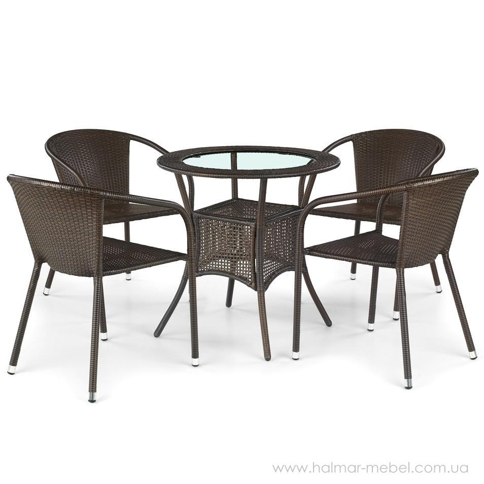 Комплект садовый HALMAR стол MIDAS и четыре стула MIDAS