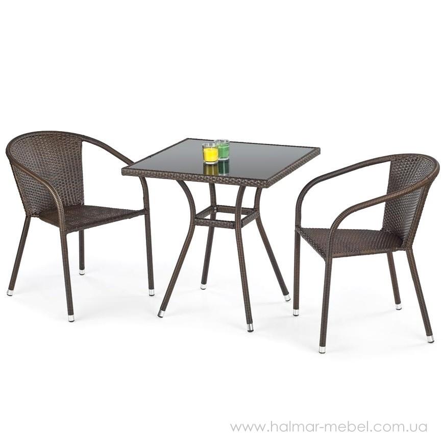 Комплект садовый HALMAR стол MOBIL и два стула MIDAS