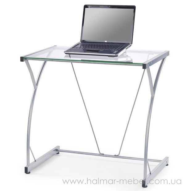 Стол компьютерный B-20 HALMAR (прозрачный)