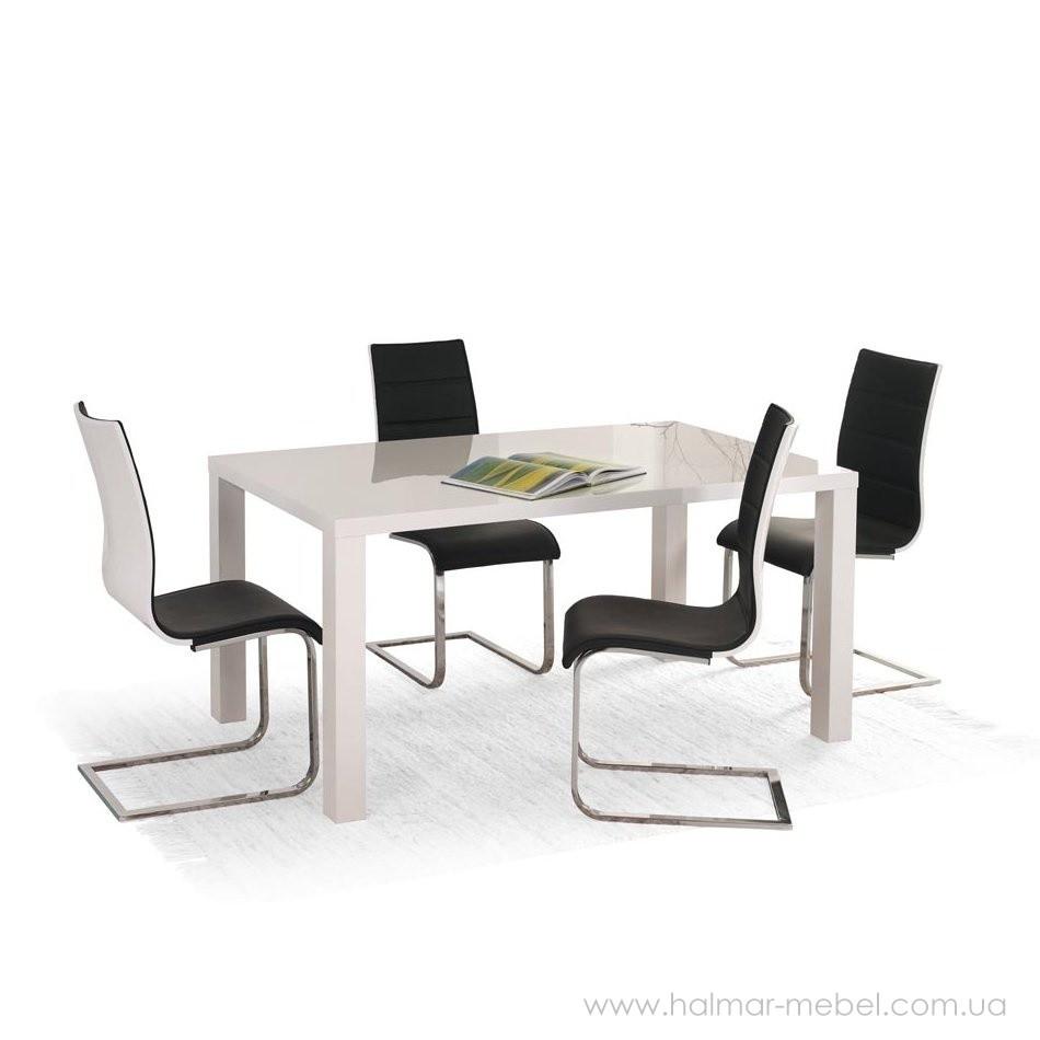 Стол обеденный RONALD 120-160/80 HALMAR белый