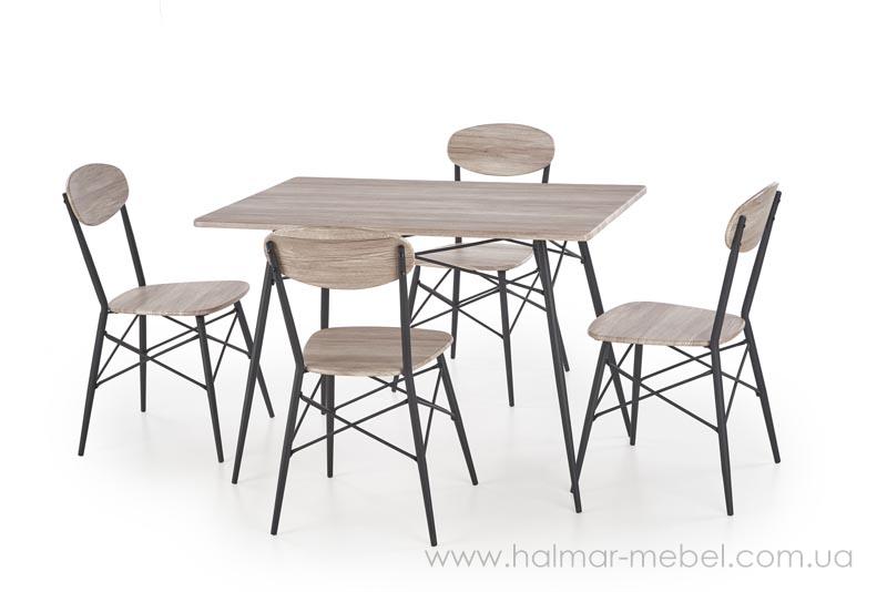 KABIR комплект столовый (стол + 4 стула),прямоугольная форма столешницы