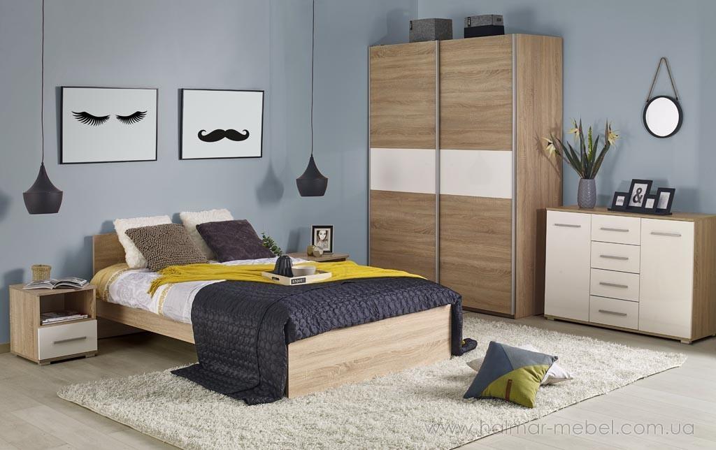 Lima кровать 90 цвет дуб сонома